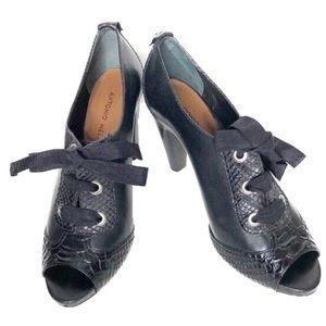 Antonio Melani Black Peep Toe Booties
